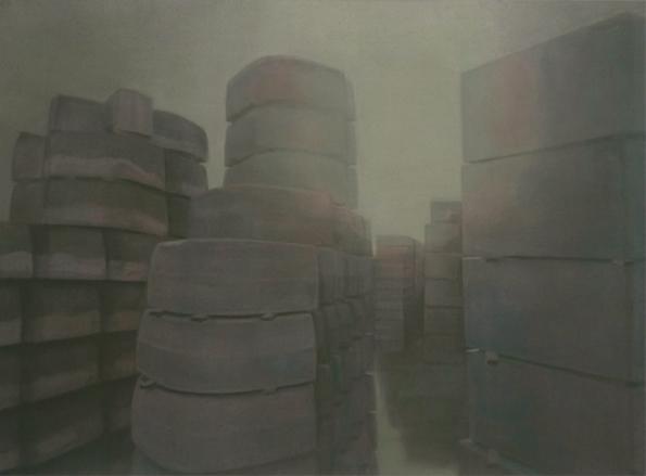 Curbstones, 2009, acrylic on canvas, 110x150 cm