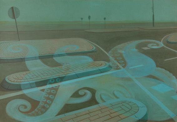 Seascape, 2006, acrylic on canvas, 120x180 cm
