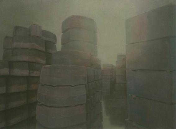 Curbstones, 2009, acrylic on canvas