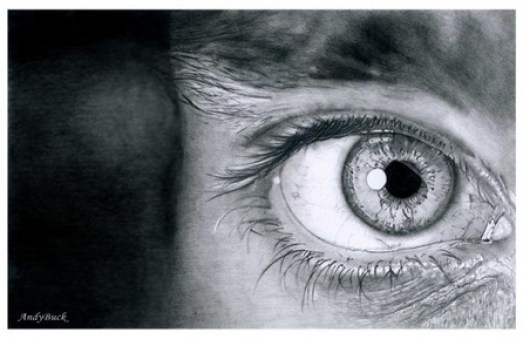 detailed eye drawing