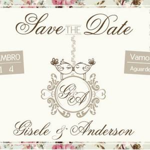 Save the Date Gisele & Anderson
