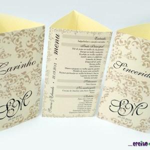 Tótens em papel metalizado 3 lados   Simone & Eduardo