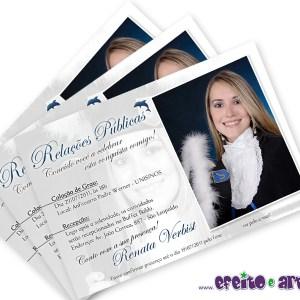 Convite 10x15cm em papel fotográfico | Relações Públicas