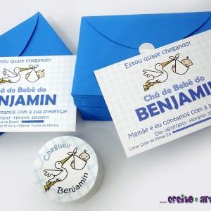 Convites e adesivos | Chá de Bebê do Benjamin
