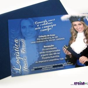 Convite 10x15cm em papel fotográfico | Logística
