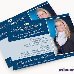 Convite 10x15cm em papel fotográfico | Administração