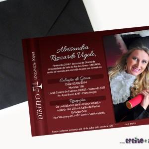 Convite 15 x 21cm em papel fotográfico | Direito