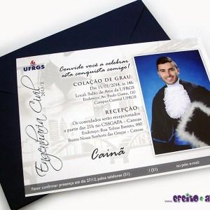 Convite 15 x 21cm em papel fotográfico | Engenharia Civil
