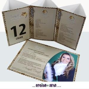 Convite 15 x 21cm em papel fotográfico + Tótens 9x14cm | Psicologia