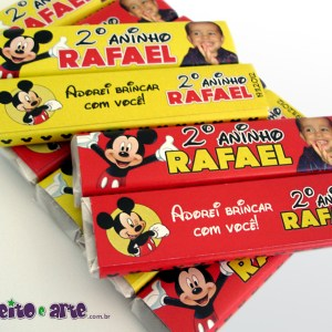 Rótulos Chocolate Refeição | Mickey