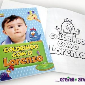 Livrinho de colorir 14x20cm | Galinha Pintadinha