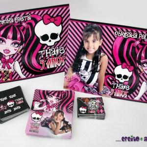 Rótulos diversos e display de mesa | Monster High