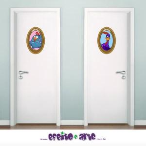 Cartazes para banheiro | Galinha Pintadinha