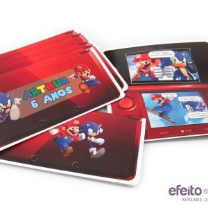 Convite vídeo game | Mario e Sonic