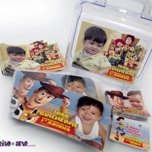 Maletinha acrílico + ímãs + rótulos diversos | Toy Story
