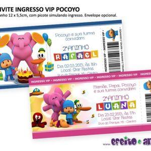 Convite ingresso |Pocoyo