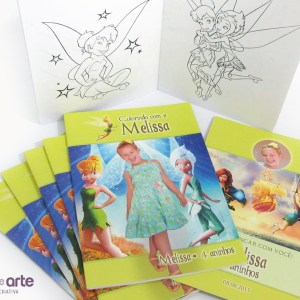 Livrinhos de colorir com foto | Sininho Tinker Bell