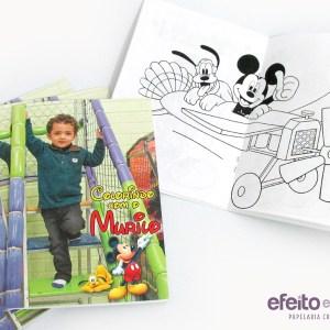 Livrinhos de colorir com foto | Mickey