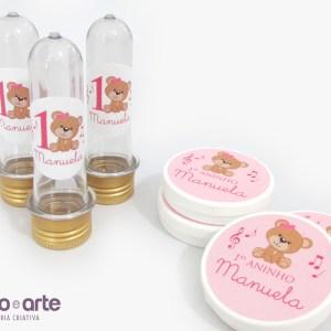 Tubetes e latinhas | Ursinha marrom e rosa