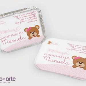 Marmitinhas | Ursinha marrom e rosa