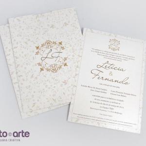 Convite Paris | Letícia & Fernando