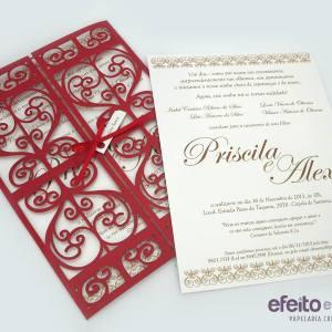 Convite Florença | Priscila & Alex