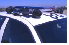 ALPR Camera on Top of Police Car