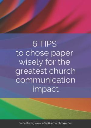 Cover from ebook on paper choices for church communicators