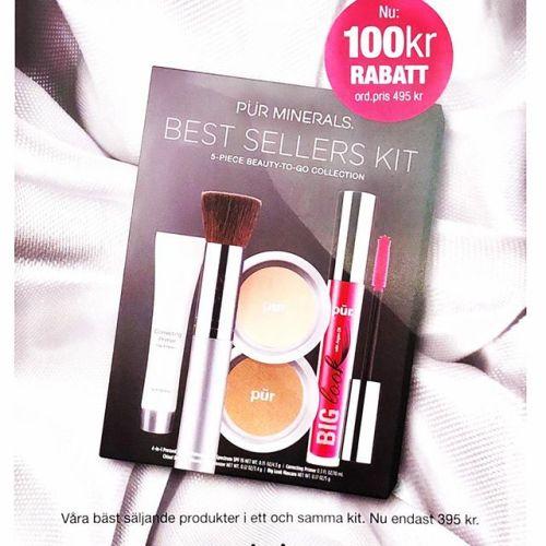 Nu har vi äntligen fått in Pür's nya Best Sellers kit. Till och med mars får du 100kr rabatt, nu endast 395kr. Ett kit ingår även vid bokning av makeup konsultation (600kr för 30min) perfekt till dig som vill lära dig mer om makeup eller som present!