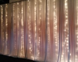 twilight string christmas lighting backdrop rental