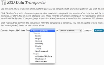 SEO data converter