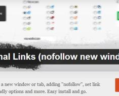 WordPress › WP External Links (nofollow new window seo)