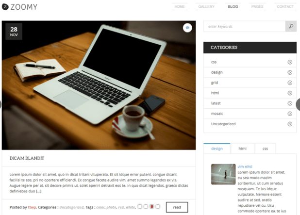 Zoomy WordPress Responsive Theme