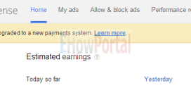 Adsense Account Has Been Upgraded to a New Payments System | Google Adsense