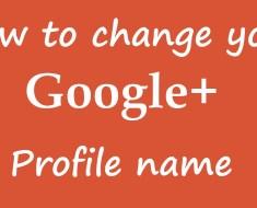 Change name on Google plus profile