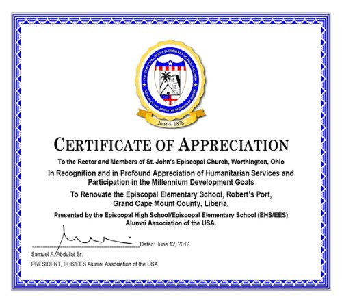 ... The Episcopal Elementary School From .Co Worker Appreciation Day 2012