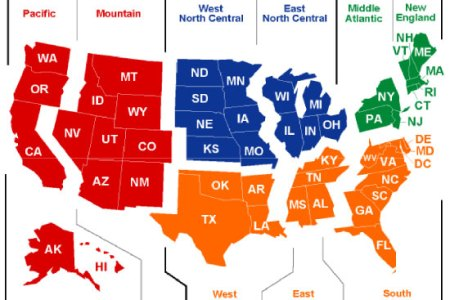 map of united states regions for kids