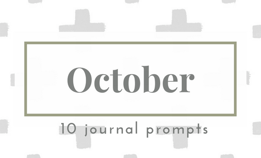 Ocotber 2016 Journal Prompts. New prompts released the beginning of each month >> Eight Pepperberries