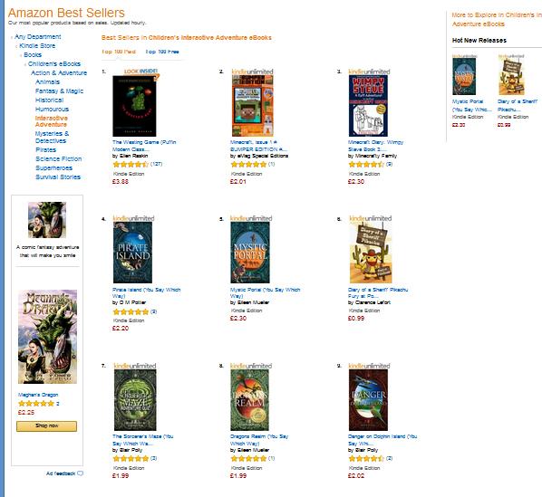 Best seller list amazon uk