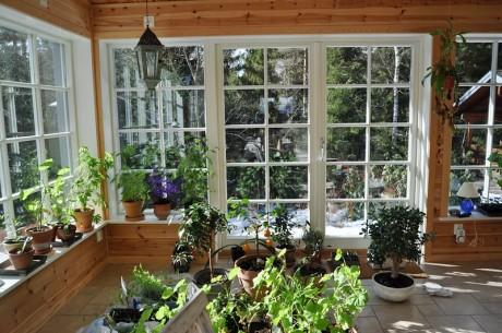 Ekstrands utåtgående parfönsterdörr och fasta fönster