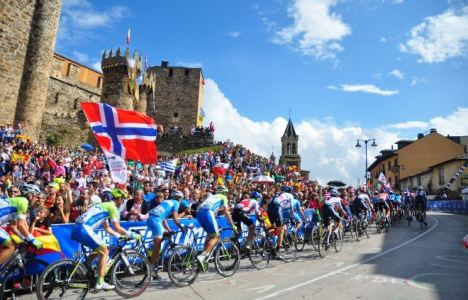 Prueba de la competición del Mundial de Ciclismo celebrado en septiembre de 2014 (F.G.)