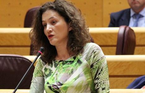 La senadora berciana Silvia Franco durante una de sus intervenciones