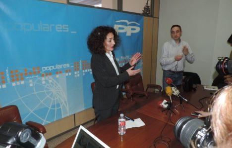 Gloria Fernández Merayo, en el día de su presentación como candidata popular