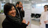 Santiago Ordoñez y Rosario Bilbao registrando la denuncia en la Fiscalía de Ponferrada