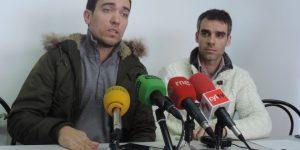 Sergio Gallardo y el presidente del Club de Ponferrada, Marcos Vázquez