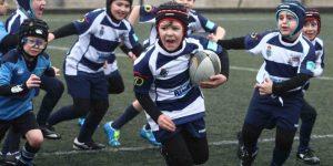 Los más pequeños disfrutaron en Santiago (Bierzo Rugby)