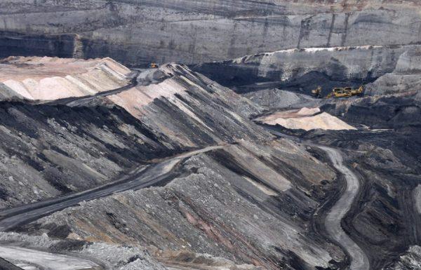 Explotación minera a cielo abierto.