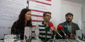 Noelia Muñóz, Sergio Gallardo y Manolo Martínez  durante la presentación