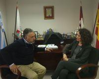 Merayo charló con el presidente de la Ponferradina sobre el trabajo y los objetivos del club