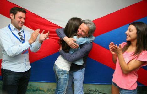 Los líderes de Coalición por el Bierzo celebran sus resultados (C.Sánchez)